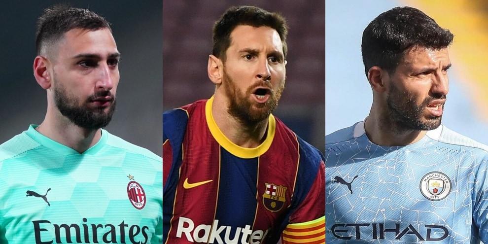 Svincolati, la top 11 europea: tutti i nomi da Messi ad Aguero