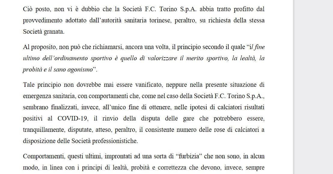 """Corte Sportiva d'Appello: """"Lazio-Torino va giocata"""""""