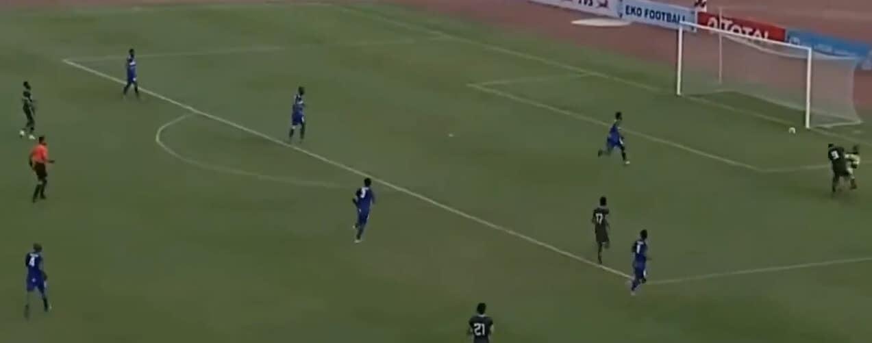 Osimhen, il gol con la Nigeria