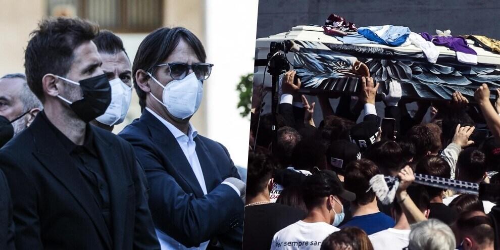 Lazio, lacrime e commozione ai funerali di Guerini