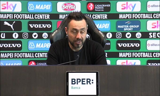 """De Zerbi: """"Locatelli e Ferrari out? Il Sassuolo segue la coscienza"""""""