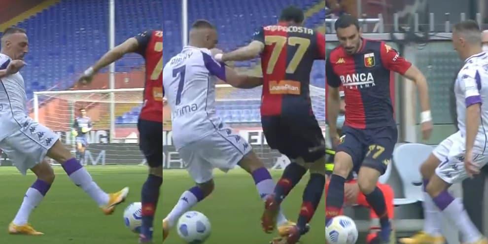Fiorentina, rosso diretto per Ribery: l'entrata su Zappacosta