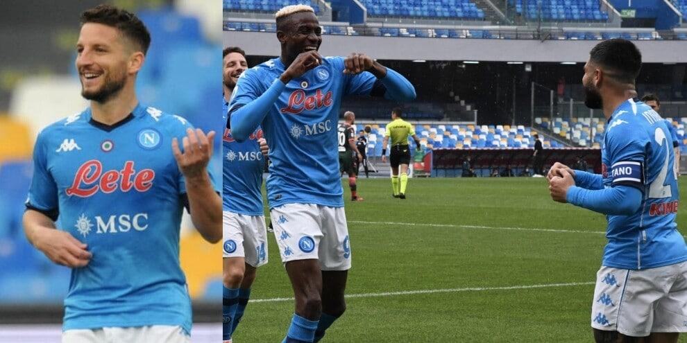 Mertens suona, Insigne e Osimhen ballano: Napoli-Crotone 4-3