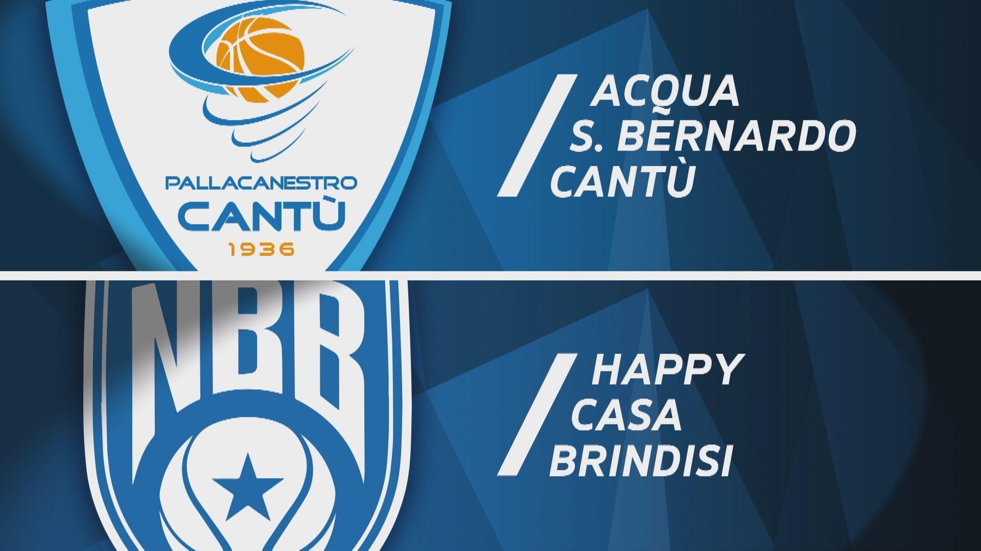 Acqua S.Bernardo Cantù - Happy Casa Brindisi 71-93