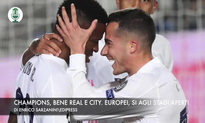 Champions League, vincono Real e City. Europei, pubblico negli stadi