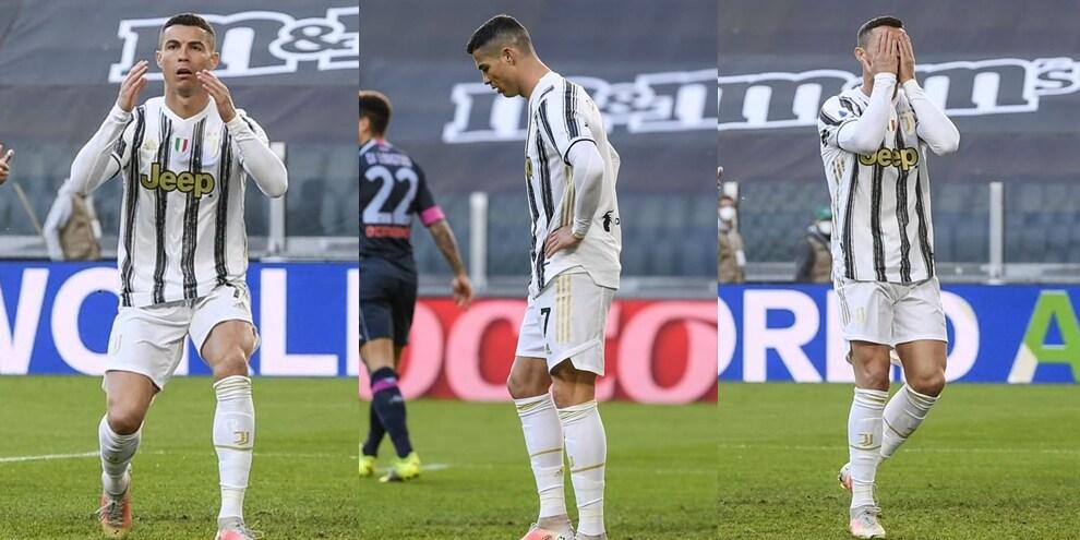 Cristiano Ronaldo si divora un gol e si dispera