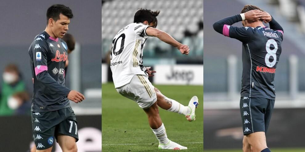 Napoli, Insigne non basta: Juve terza con Ronaldo e Dybala