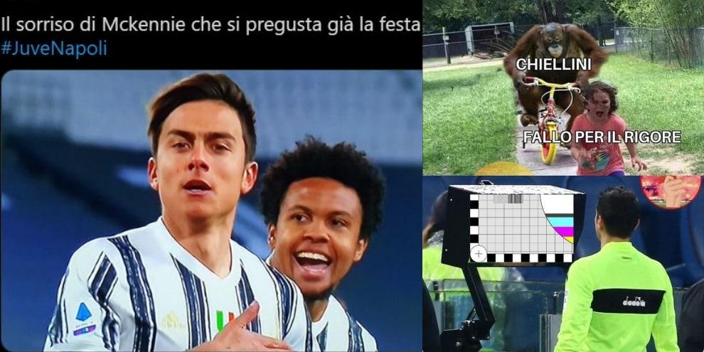 Juve-Napoli, ironia e sfottò sui social. E su Dybala...