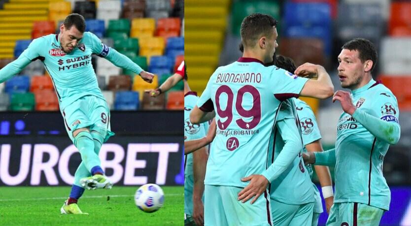 Belotti ritrova la rete: il Torino vince in casa dell'Udinese