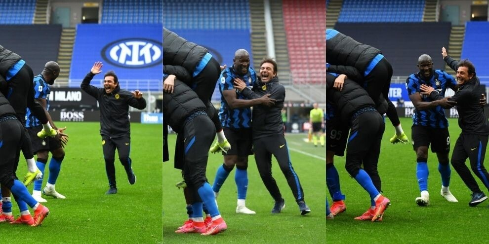 Inter, Conte pazzo di gioia per il gol di Darmian