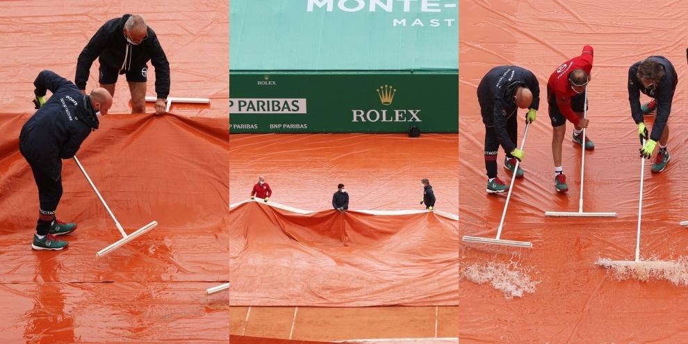 ATP Montecarlo, pioggia torrenziale ferma il torneo