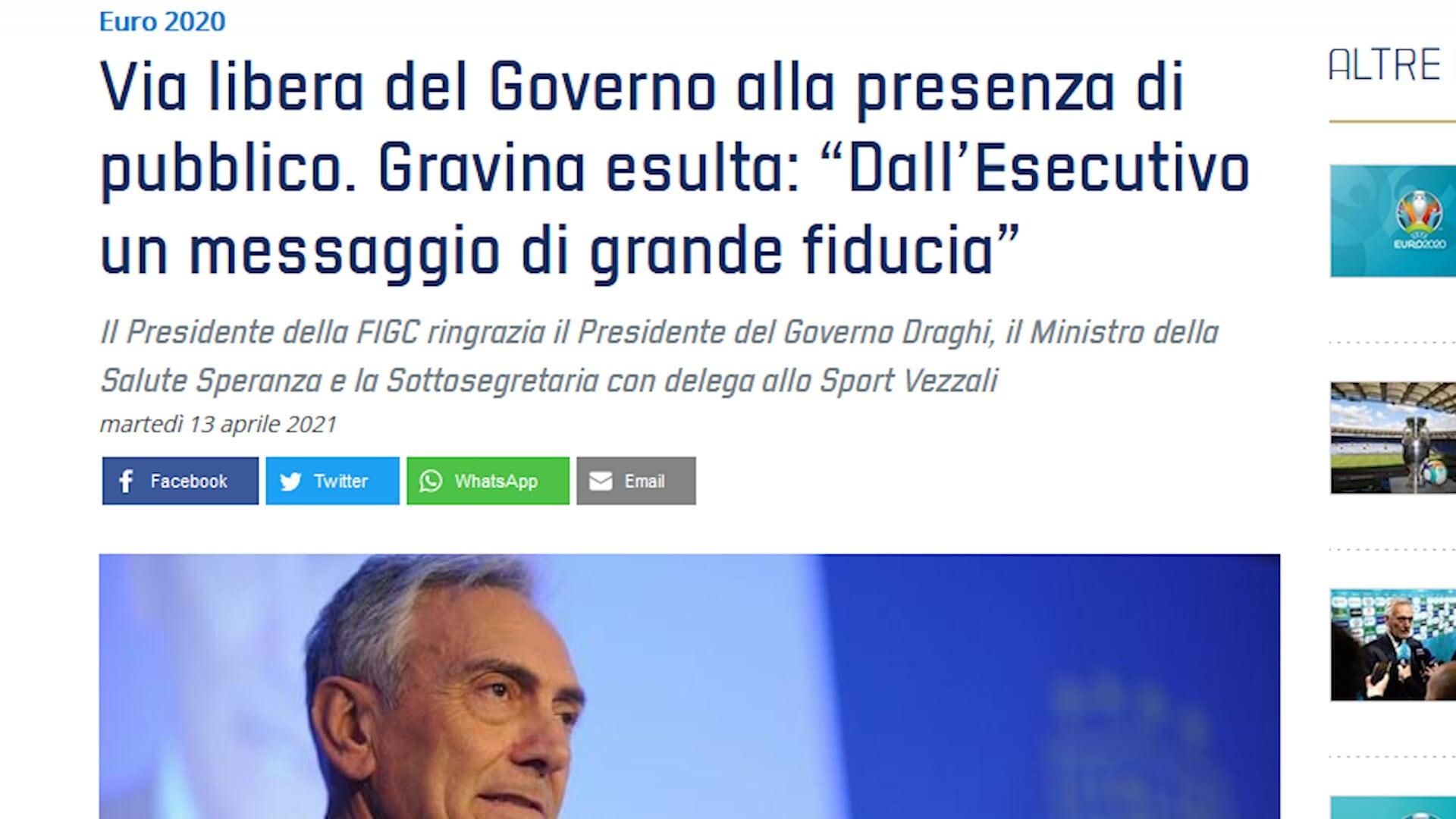 Tifosi, l'Italia esulta per gli Europei: sì del Governo al 25%