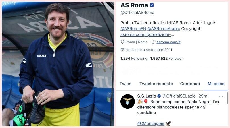 Lazio-Roma, derby social su Paolo Negro