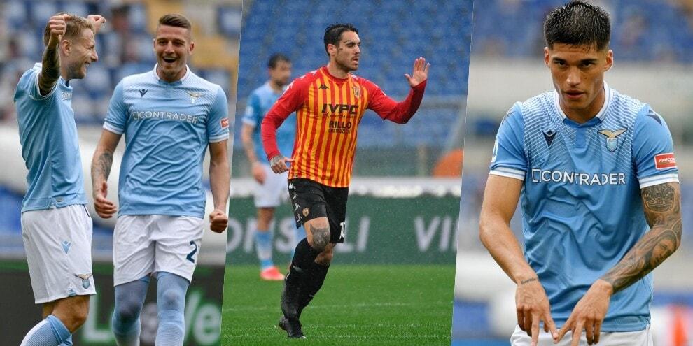 Lazio, la quinta nel segno di Immobile e Correa: Benevento ko