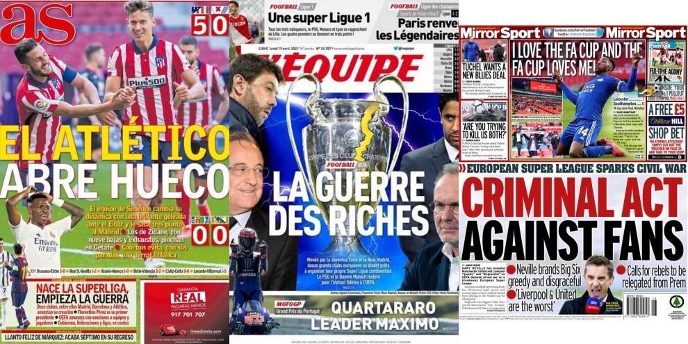 La Superlega sulle prime pagine dei quotidiani europei