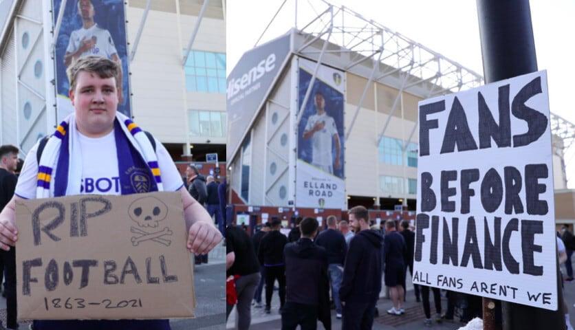 Premier, protesta dei tifosi contro la Superlega