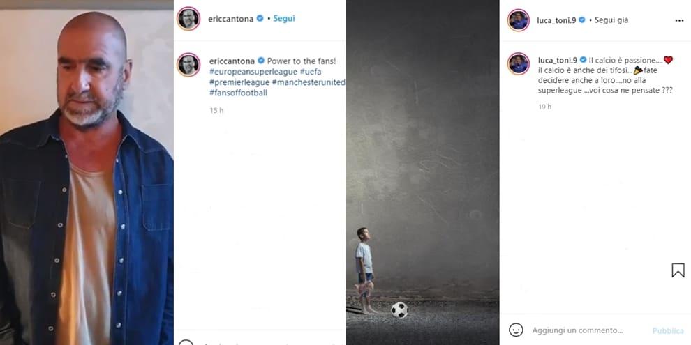 Superlega, le reazioni social dei vip: Luca Toni, Cantona e tanti altri