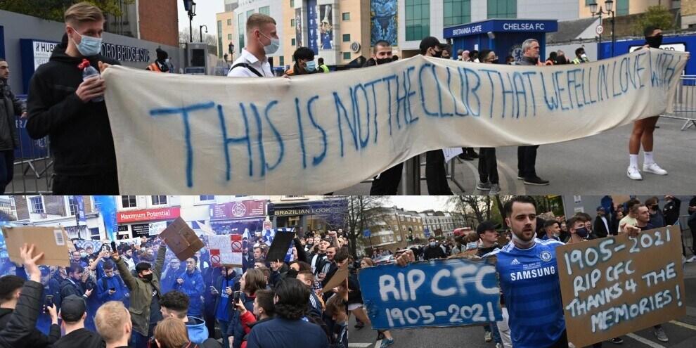 """Chelsea, tifosi in protesta: """"Questo non è il nostro club"""""""