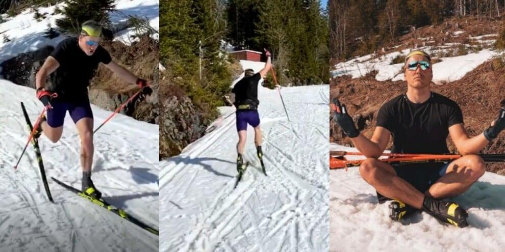 Come sarebbe Haaland se fosse uno sciatore: la parodia è virale