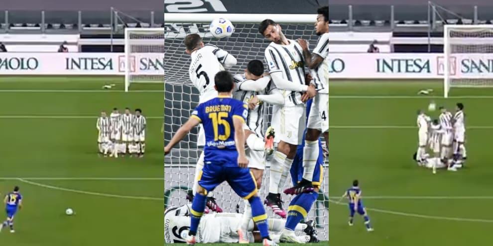 Cristiano Ronaldo, altro errore in barriera e il Parma segna