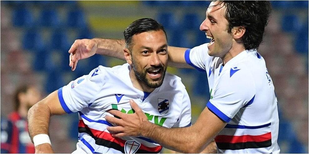 La Sampdoria supera il Crotone: Quagliarella decisivo