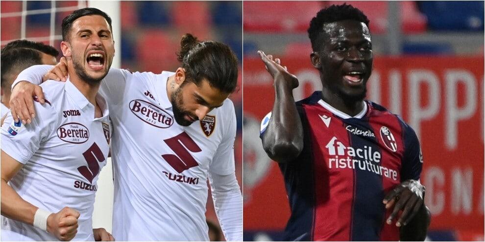 Bologna, Barrow non basta: il Torino rimonta con Mandragora