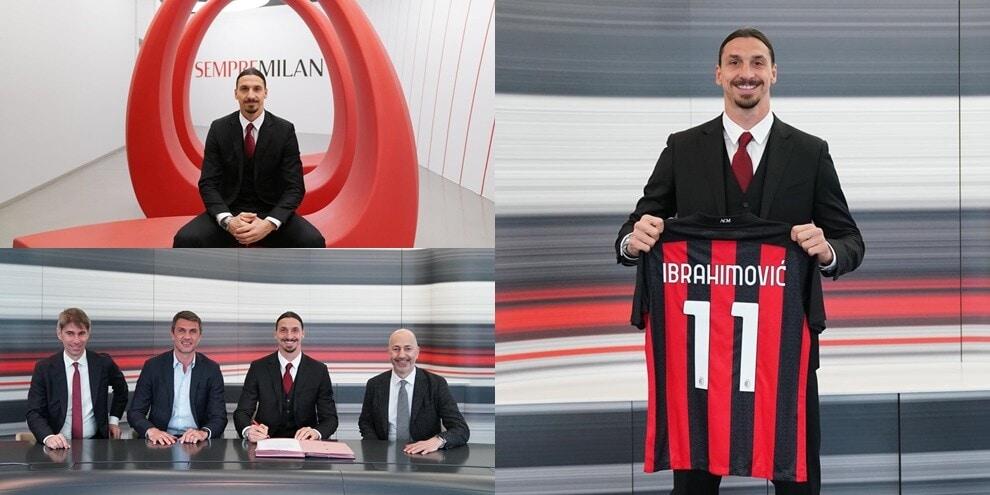 Ibrahimovic rinnova col Milan: le immagini dello Z-Day