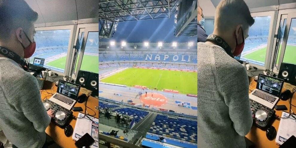 Napoli, dentro il Maradona deserto con la musica di Decibel Bellini