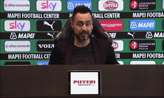 """De Zerbi: """"Quagliarella immortale, per l'Europa League ci proviamo"""""""