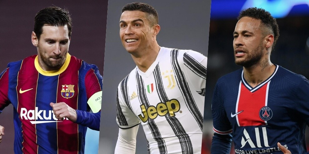 I calciatori che guadagnano di più: la top 10 di France Football