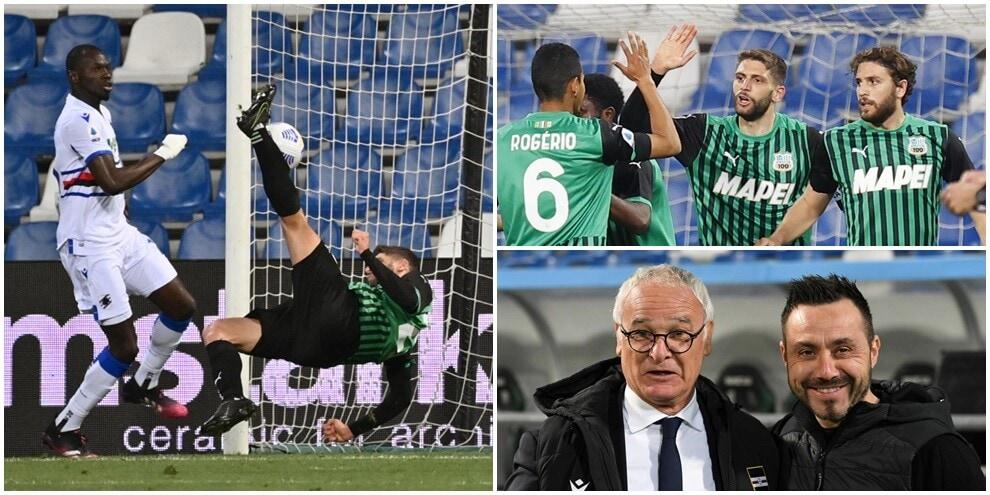 Berardi stende la Samp con una magia: vola il Sassuolo