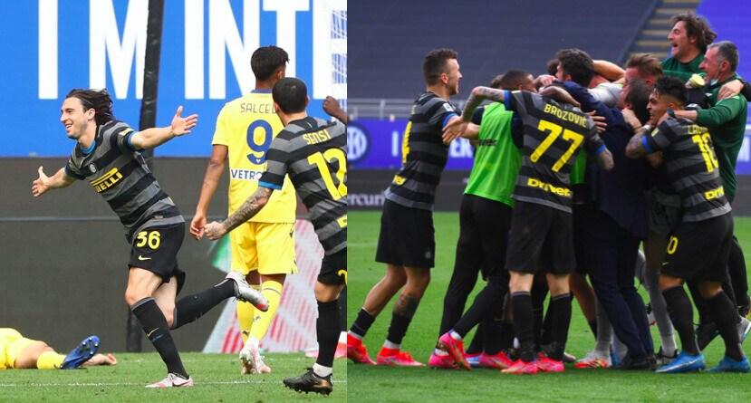 Segna Darmian, Verona ko: grande festa dell'Inter in campo