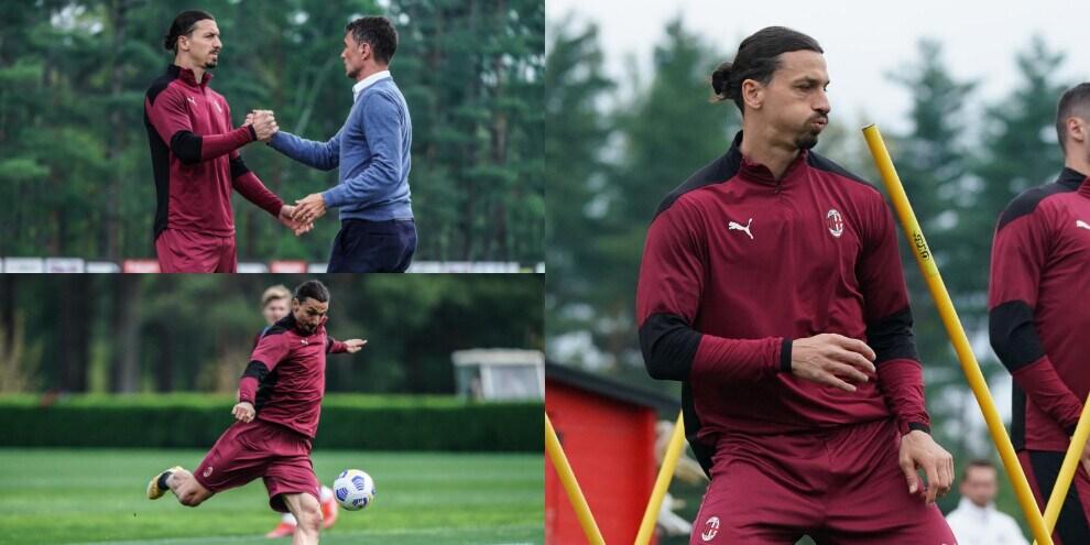 Milan, Ibrahimovic si scalda in vista del Benevento