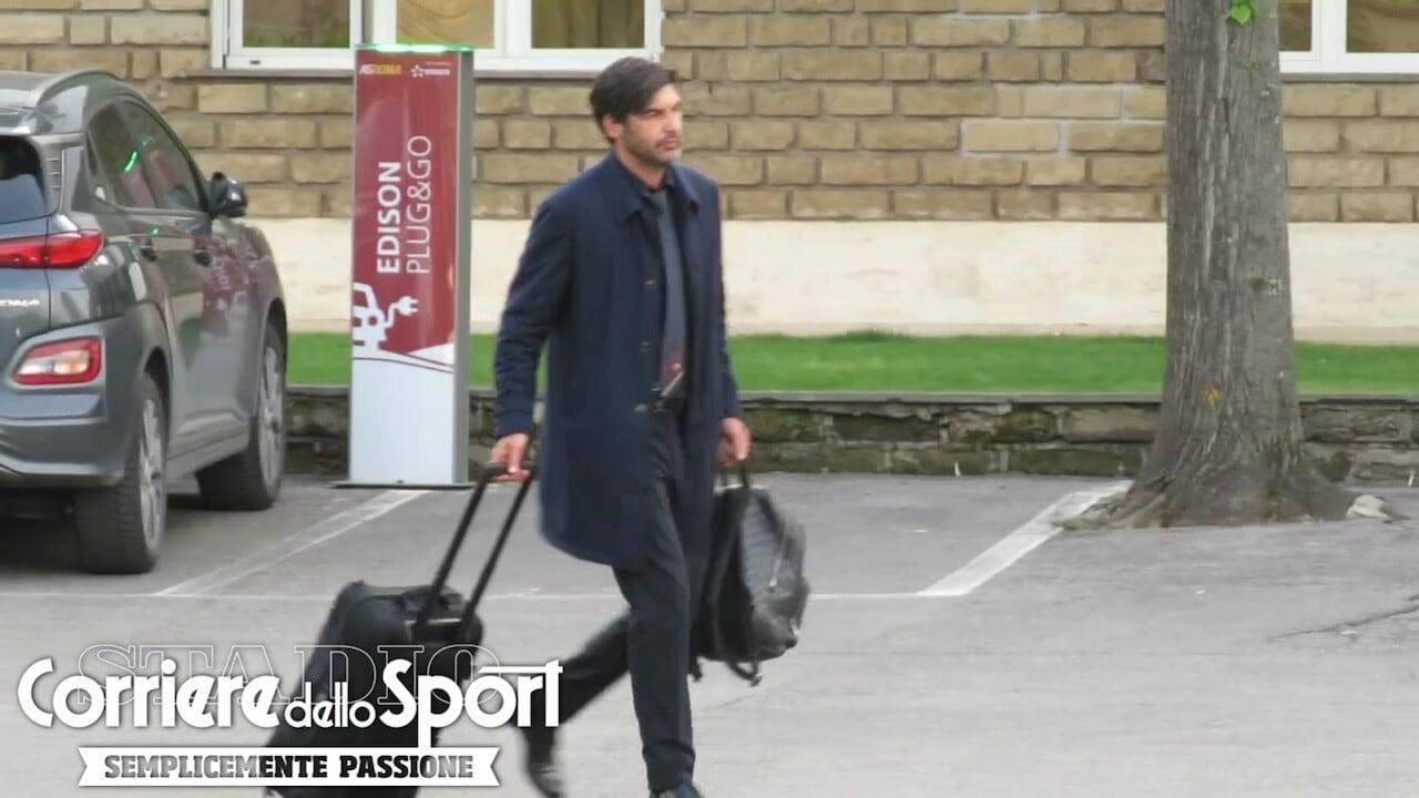 La Roma torna a Trigoria dopo il tracollo di Manchester: ecco Fonseca col procuratore