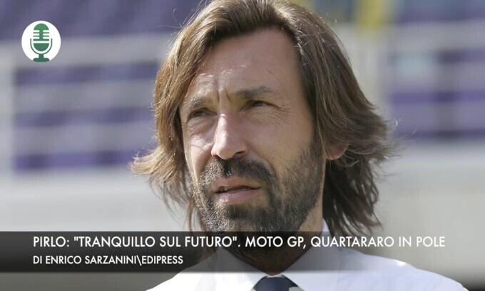 """Pirlo: """"Tranquillo sul futuro"""". Moto Gp, Quartararo in pole"""