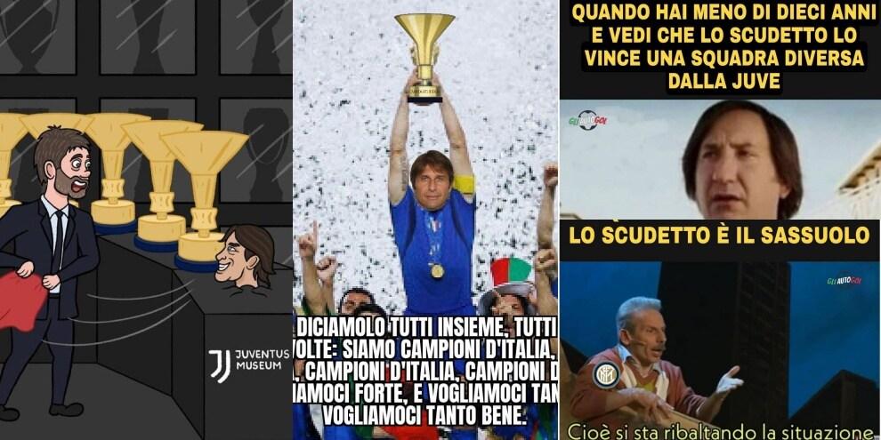 L'Inter è Campione d'Italia: i social si scatenano con le ironie