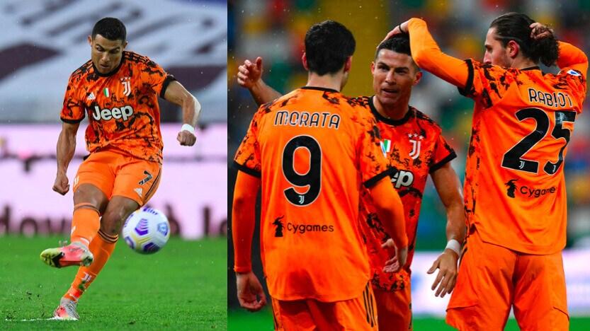 Ronaldo, super doppietta: la Juve batte l'Udinese in rimonta