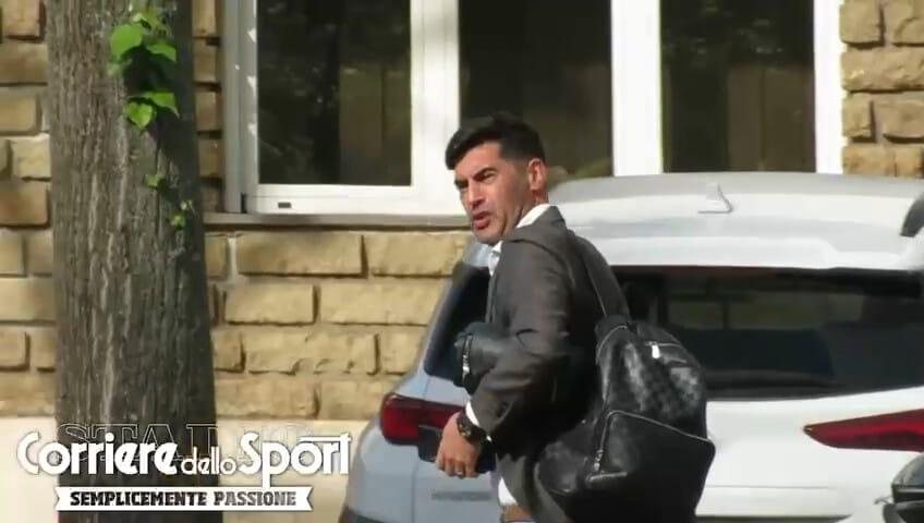 Roma, Fonseca arriva a Trigoria per dirigere l'allenamento