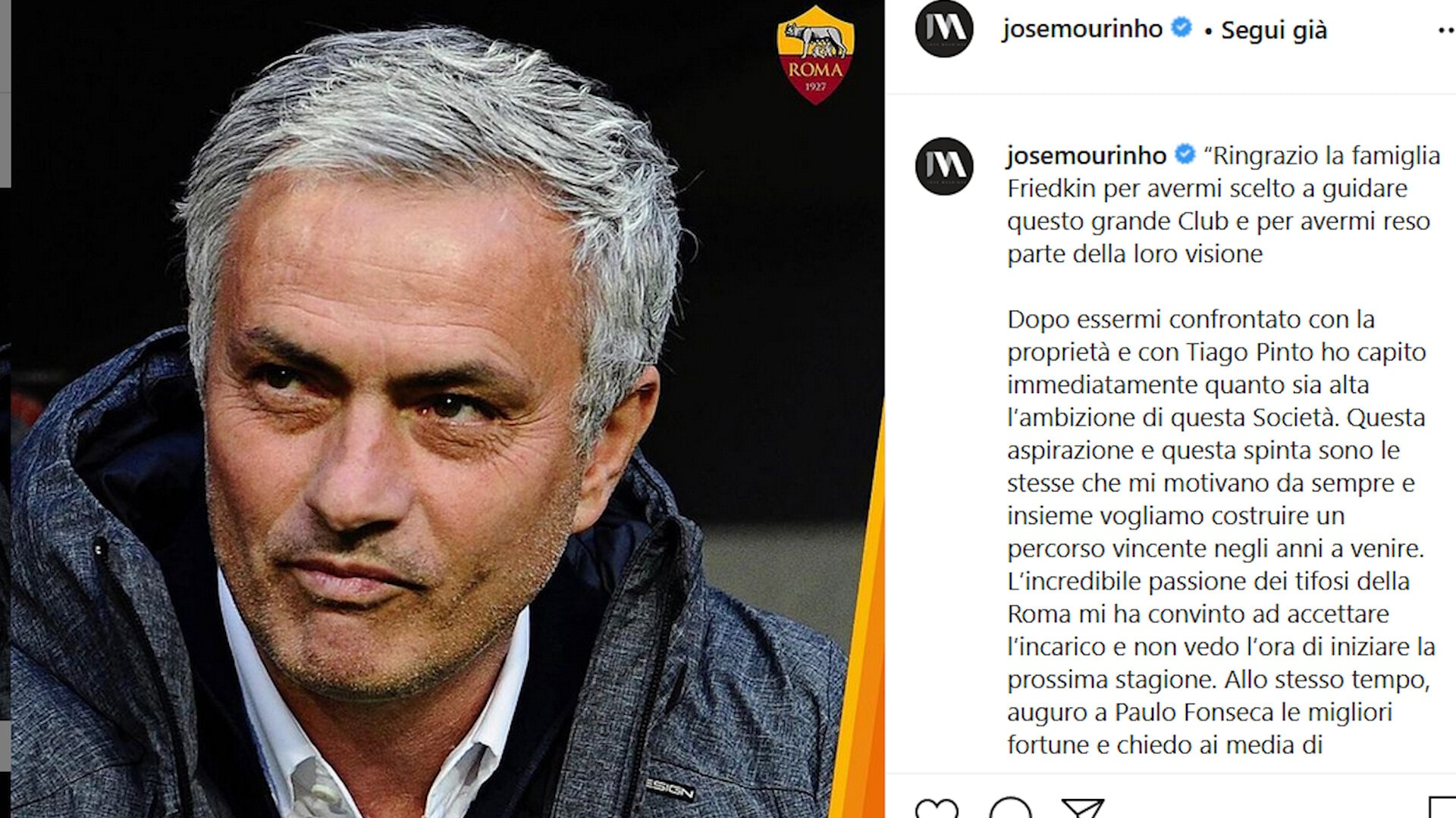 Clamoroso Roma: preso Mourinho!