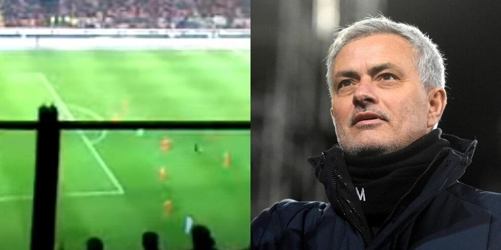 Il coro dei tifosi per Mourinho è da brividi