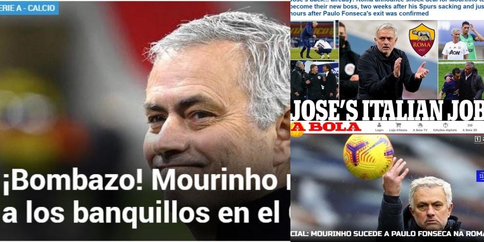 """""""Che bomba!"""": Mourinho alla Roma fa il giro del mondo!"""