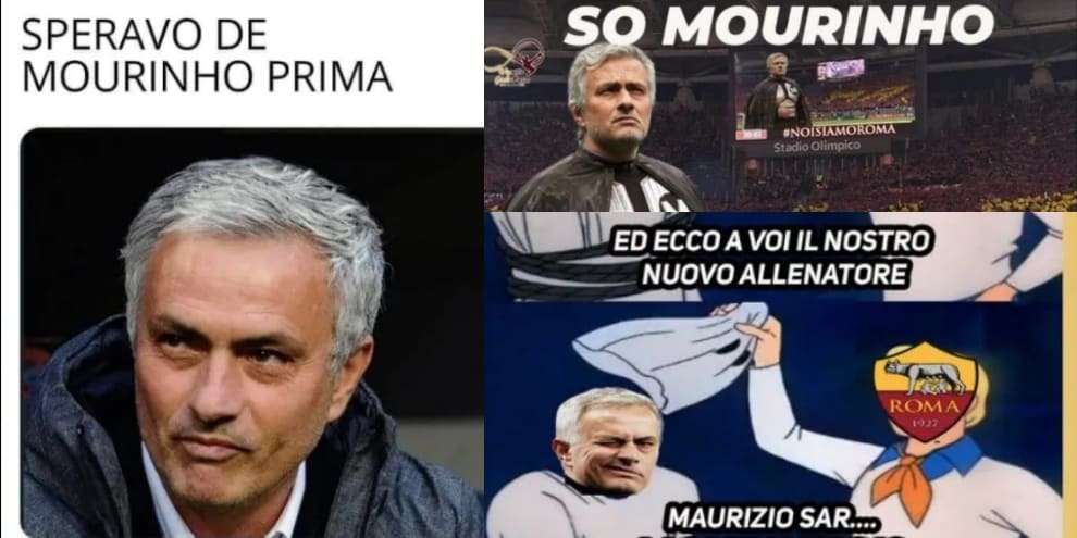 Mourinho alla Roma: l'annuncio visto dai social