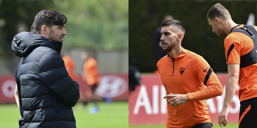 Fonseca allena la Roma di Mourinho prima dello United