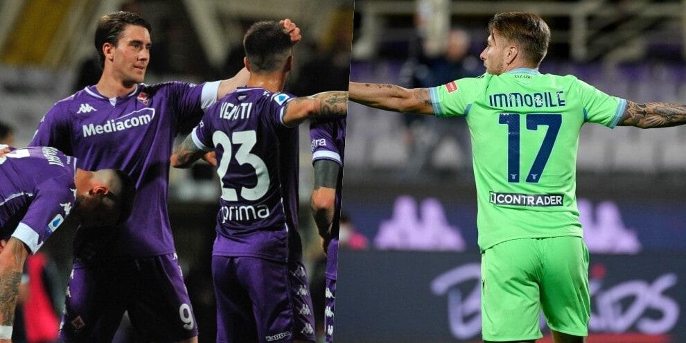 Vlahovic sempre in gol: la Fiorentina batte la Lazio 2-0