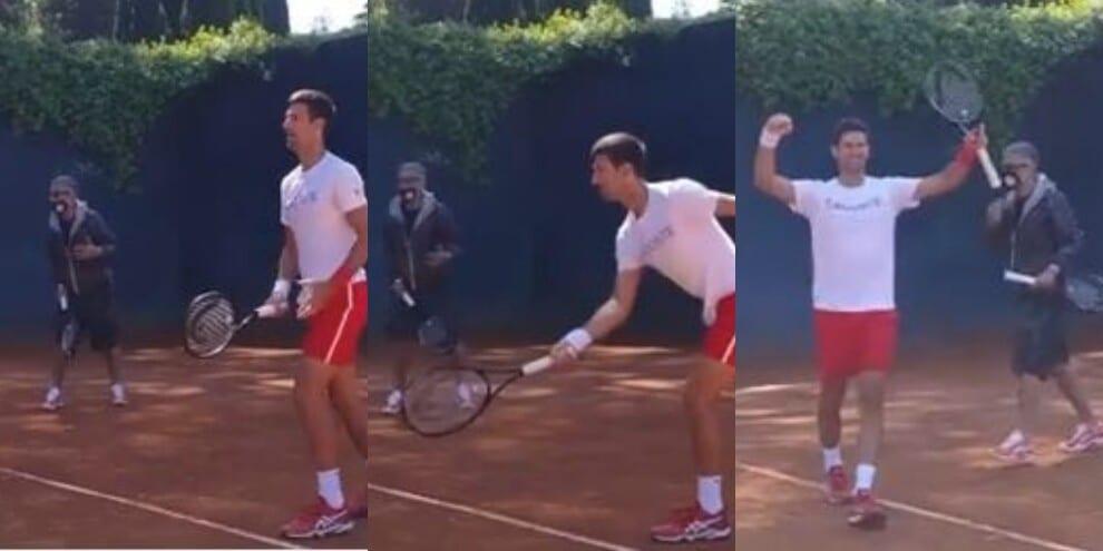 Novak Djokovic e Fiorello: la sfida sul campo da tennis