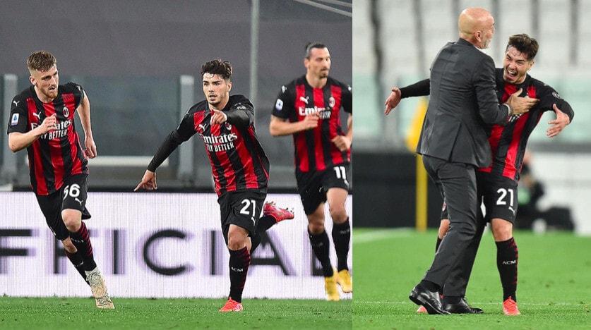 Diaz decisivo in Juve-Milan, che abbraccio con Pioli dopo il gol