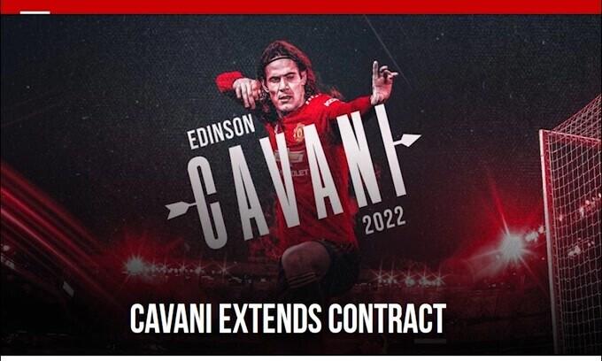 Ufficiale: Cavani ha rinnovato con il Manchester United