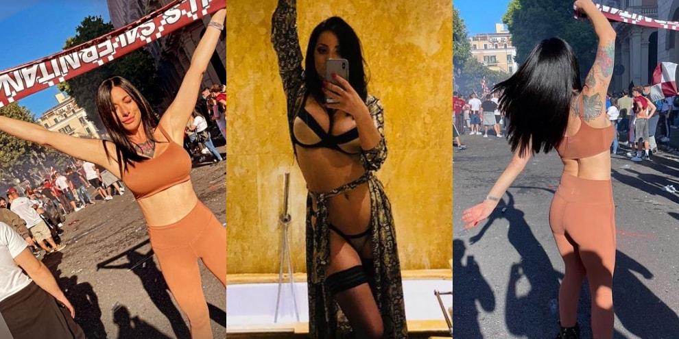Priscilla Salerno e la sua Salernitana, festa sexy in piazza