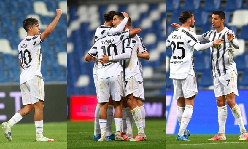 Dybala e Ronaldo trovano la rete numero 100 con la Juve: Sassuolo ko