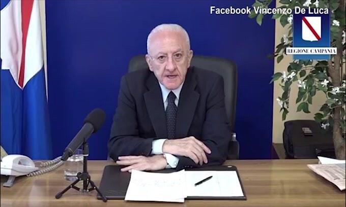 "De Luca: ""Brava Salernitana. Napoli, la Champions per rilanciare la Campania"""